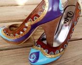 Deucie Watusi painted shoes W6.5