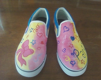 Handpainted Acrylic Canvas Shoes - My Little Pony - MEN'S SIZING