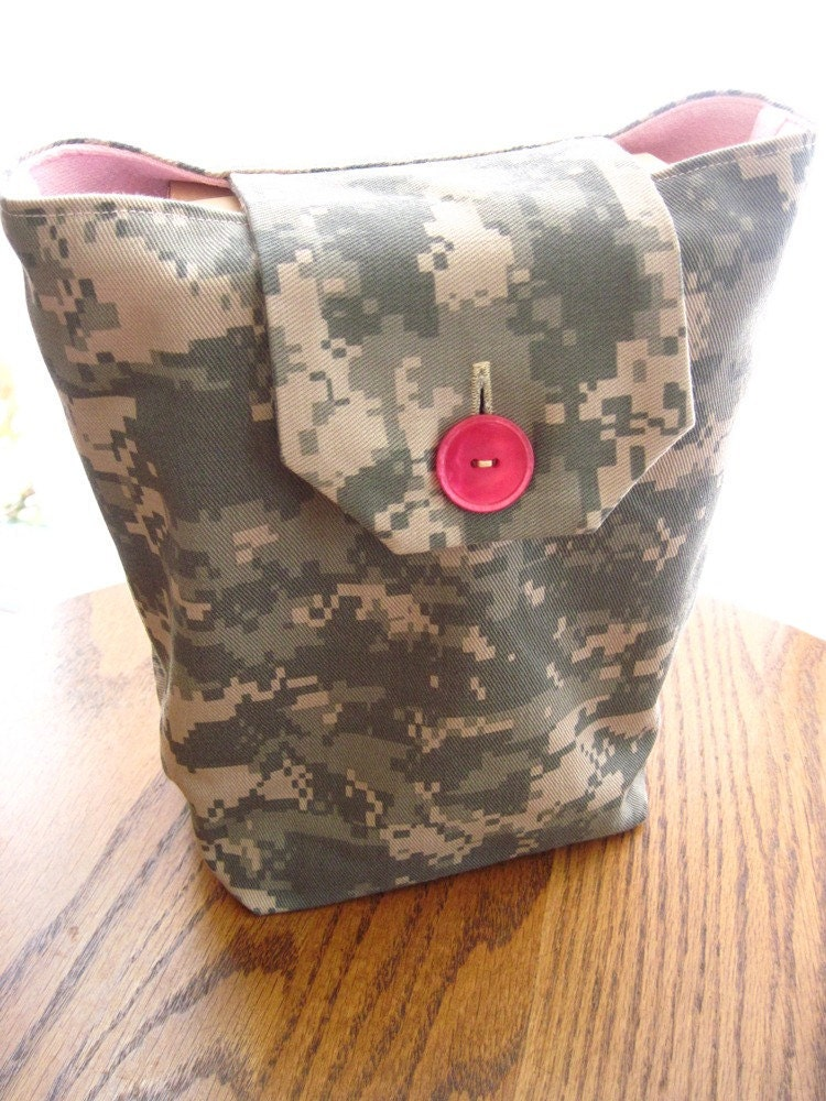 Pink Amp Acu Gift Bags Reusable Army Camouflage By