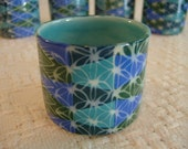 Thrown Small Cup-Hand Painted Cylinder