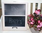 Repurposed Window Chalkboard Frame