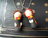 M20 Harry Potter Tiny Harry and Ron KEYCHAINS Polymer Clay Sculpture