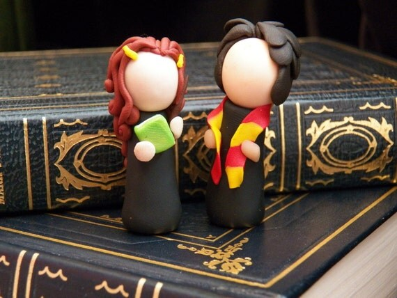 Harry Potter Tiny Ginny and Harry Polymer Clay Sculpture