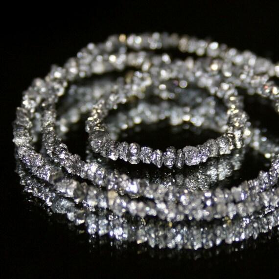 Diamond  Black Rough Bead, set of 10 Natural Chip Beads Precious Gemstone April Birthstone