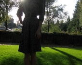 Polka Dot Knife Pleat Secretary Mad Men Dress SZ. 6 Union Made