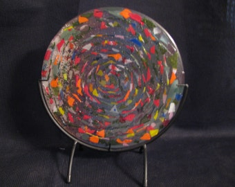 Fused glass candle reflector