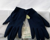 Vintage Navy Gloves One Size