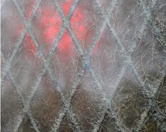 Red glow, church window Manchester Church, UK, original signed Fine Art photography print, Art print, Wall art