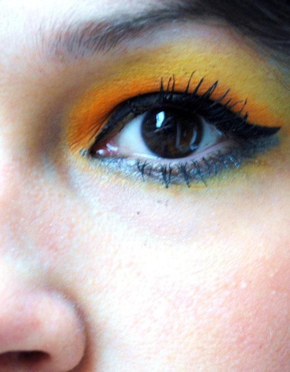 Brown Eye (Set Off By Bold Orange Eye Shadow),  Fine Art Photography Print, Eye Close Up, Unique Home Decor, Wall Art, Gifts, Photo Prints