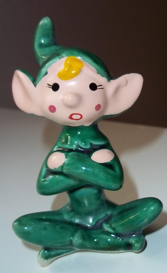 Seated elf figurine from JAPAN