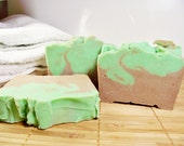Green Tea Scented Shower and Bath Natural Soap