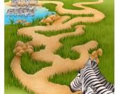 Zebra Maze original illustration
