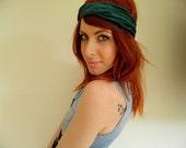 Dark Green Velvet Turban Headband