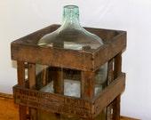 Vintage Large Crated Carboy Water Bottle