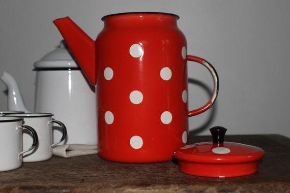 Vintage enamel coffee pot reserved for Jess