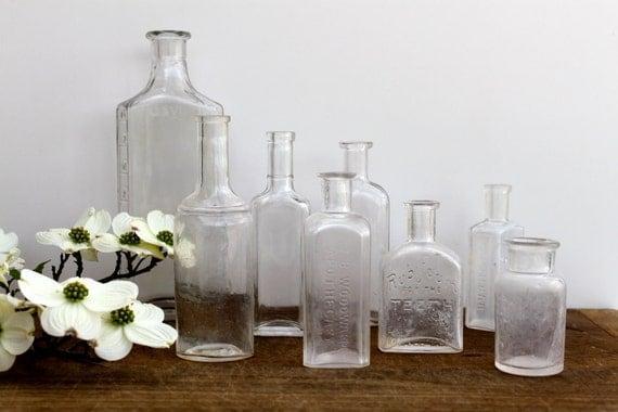 Vintage medical bottles