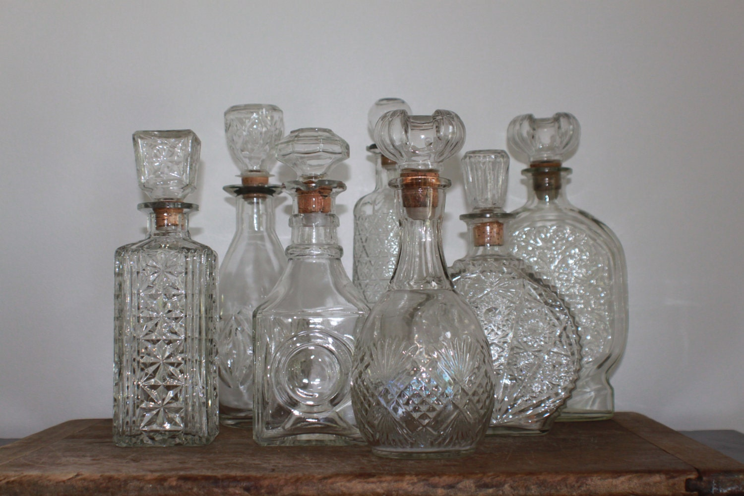 Vintage Whiskey Decanters 50