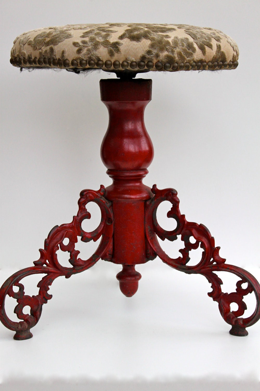 Antique Piano Bench Stool Reserved For Lisa By Brimfieldfinds