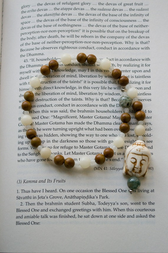 Wood Stone pocket mala. Mala beads, Yoga, meditation, buddha