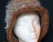 Knit Slouchy Cloche Hat with Brim - SPRING SALES ITEM