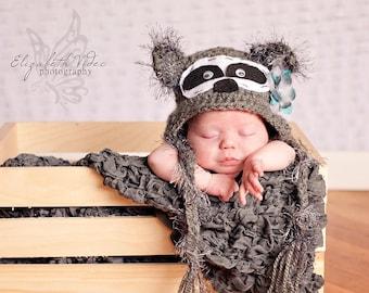 Little Raccoon Crochet Hat - Baby through Adult Sizes