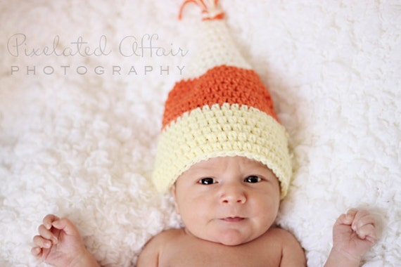 Crochet Candy Corn Baby Halloween Hat by dkcuddlemecrochet ...