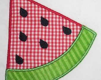 Summer Watermelon Slice Embroidery Design Applique