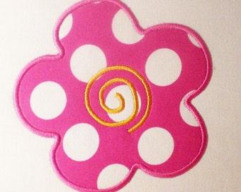Crazy Daisy Flower Embroidery Design Applique