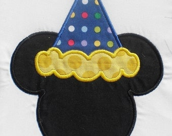 Birthday Hat Mouse Embroidery Design Machine Applique