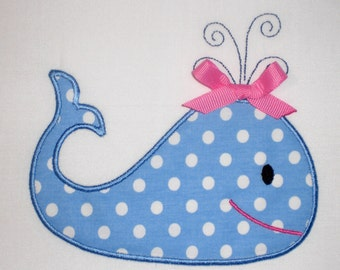 Whale Embroidery Design Machine Applique
