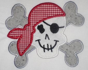 Boy Pirate Embroidery Design Machine Applique