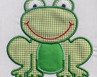 Sweet Frog Embroidery Design Machine Applique