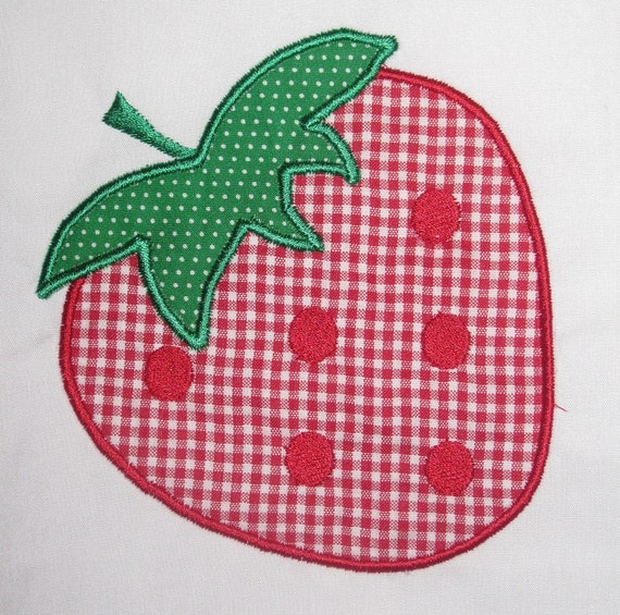 Strawberry Machine Embroidery Design