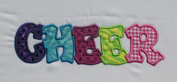 Cheer Word Embroidery Design Applique