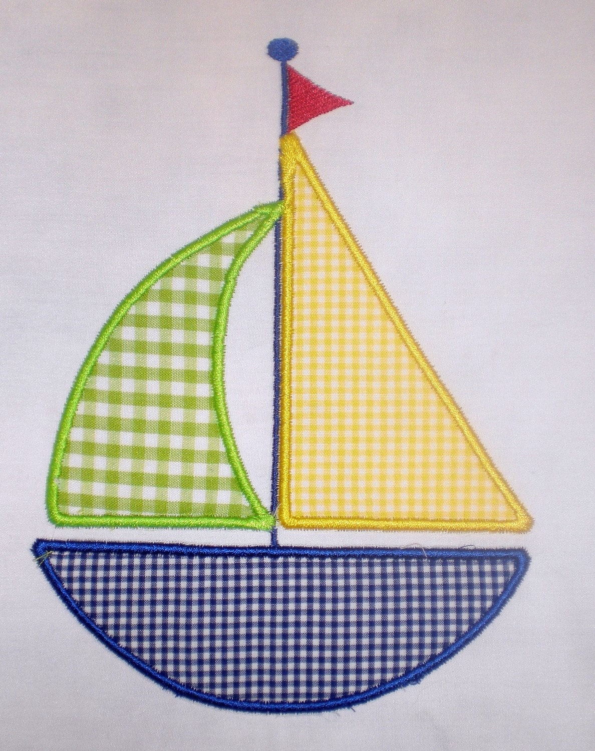 sailboat embroidery design applique. Black Bedroom Furniture Sets. Home Design Ideas