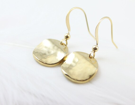 Wavy Gold Circle Earrings Minimalist Vermeil Shiny By Petitor