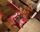 Pink Mossy Oak Camouflage Dog Hoodie