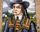 """Collectable Needlepoint Margot French Embroidered Vintage """"Breton"""" Canvases"""