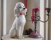 Porcelain Vintage White Big Poodle