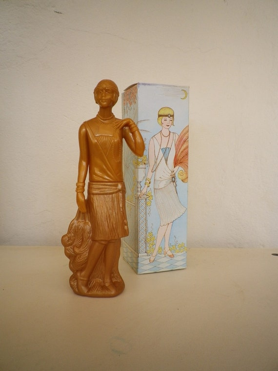Avon Charlestone Figure Vintage Collectible Cologne Bottle