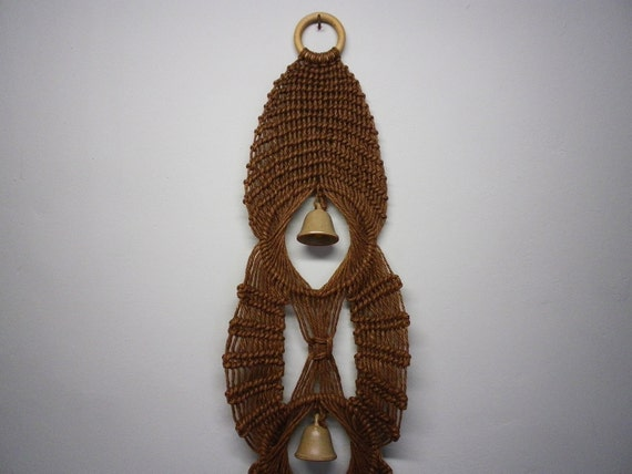 Handmade Macrame Vintage Wall Hanging Decorative Bells