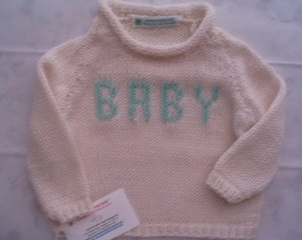 New Baby/Preemie MINT 3/6 mos Sweater & Hat Set only.   Also Handknit  and  Crocheted Gift Ideas.
