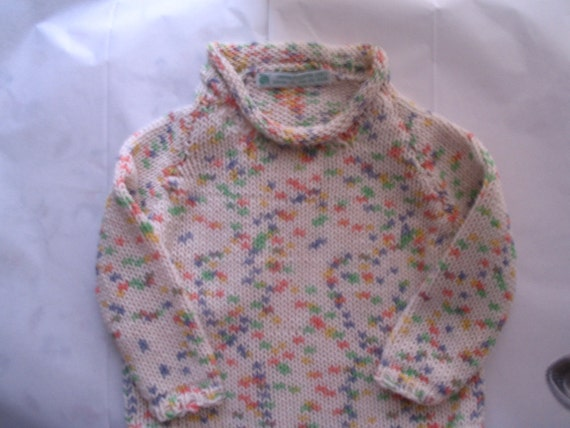 SALE -- Sample Sale -  Handknit Baby Sweater  Samples 3/6 mos and 6/9 mos