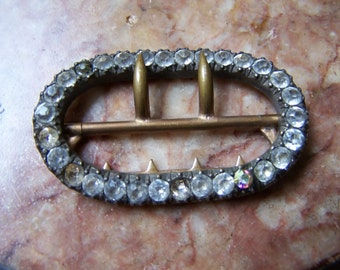 antique french belt buckle 19th