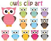 Owl Clipart 12 Sweet Owls Clip Art Graphics