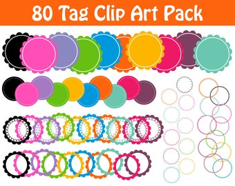 Circle Frames Clip Art Big Collection 80 Digital Tag Frame Graphics Labels and Tags