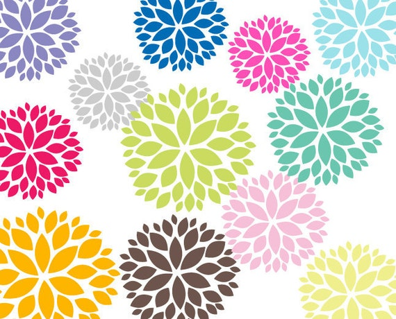 Blooming Flowers Clipart 12 Blooming Flower Clip Art Graphics