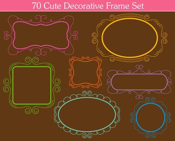 Vintage Frames Clipart 70 Decorative Clip Art Graphics