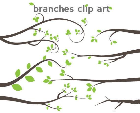 Branch Clipart Scrapbook Tree Clip Art Graphics