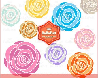 Instant Downloads, Digital Rose Clip Art. Flowers For Personal and Small Commercial Use. BP 0191
